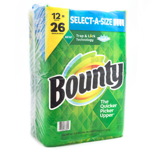 Bounty Select-A-Size Paper Towels, White 108 sheets/roll, 12 ct. Double Rolls