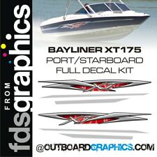 Bayliner XT175 full decal kit - custom colours available