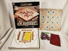 Scrabble 1989 Deluxe Edition Turntable Rotating Board Game