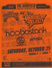 Hoobastank All-American Rejects Ozomatli Warfield San Francisco '03 Flyer Orange