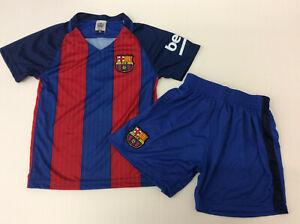 Soccer Fan Unbranded Barcelona Kids Football Soccer Jersey Set, Blue/Red, YS