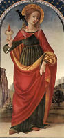 Perfect oil painting beauiful st lucy with sword hand painted in oil on canvas