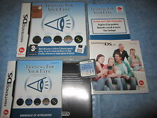 TRAINING FOR YOUR EYES per Nintendo DS, 3DS Boxed Pal ITA