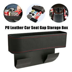 1X Nonslip General PU Leather Car SUV Seat Side Organizer Catch Box Pocket Pouch