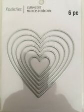 Recollections Heart Metal Cutting Dies Set Love Valentine's 624787 NEW