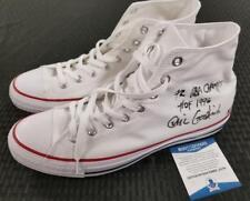 """GAIL GOODRICH Signed """"72 NBA Champs"""" + """"HOF 1996"""" Converse Shoes BAS Beckett COA"""