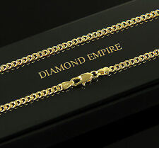 B-WarePanzerkette Halskette 3 mm Echt 750er Gold vergoldet Damen Herren K1784