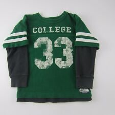 The Children's Place Boy's Shirt L / S Green Grey Heavy Thermal College Size 5/6