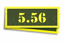 """5.56 Ammo Can Labels for Ammunition Case 3"""" x 1"""" stickers decals 2 PACK -AG"""