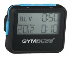 Gymboss Interval Timer and Stopwatch BLACK / BLUE SOFTCOAT NEW, Free Shipping