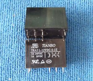 2pcs ORIGINAL TRA3 L-12VDC-S-2Z TRA3L-12VDC-S-2Z TIANBO Relay 8pins