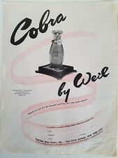 1942 Cobra by Weil Paris perfume bottle fragrance ad