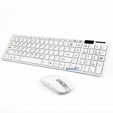 New White 2.4G Optical Wireless Keyboard and Mouse USB Receiver Kit For PC EQ