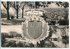 CP 19 CORREZE - Brive-la-Gaillarde - Multivues n&b - Blason