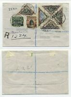 T5102 / LIBERIA / REG. COVER TO SWEDEN 1928 W. MANY STAMPS, SCARCE.