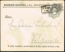 3018 CHILE PS STATIONERY COVER # EP14 1909 CONCEPCION - VALPARAISO COLUMBUS
