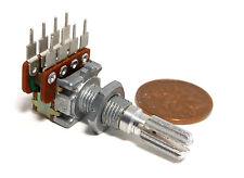 NOBLE Dual 25K Ohm A LOG 30x Detents Center (4K) Tap Potentiometer NOS Vol Audio