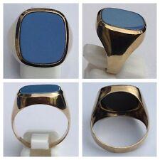 Herrenring Goldring 333er Gold Ring Achat Achatring Gelbgold 61 (19,4 mm Ø)