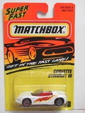 MATCHBOX 1995 CORVETTE STINGRAY III #38 WHITE