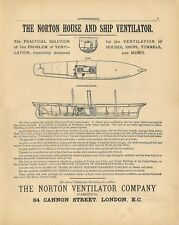 Stampa antica PUBBLICITA' THE NORTON VENTILATOR  ADVERTISING 1882 Antique print