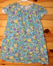 Hanna Andersson Blue Floral Dress Girls Size 110 5-6