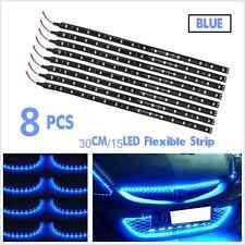 8×12V Blue 15LED SMD Waterproof Car Grille Decor Lights Strip Atmosphere Lamps