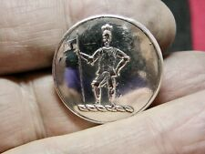 French Cavalier Standing w Lance 27mm S/P Livery Button Croker Dublin Ireland