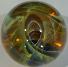 35 MM Hand Made Glass Art Marble Boro Chaos Orb Marbles Vortex Borosilicate