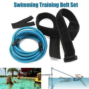Swim Resistance Training Belt Fixed Exercise Strap Bungee Elastic Tether Set