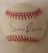 ERNIE BANKS AUTOGRAPHED BASEBALL PSA DNA CHICAGO CUBS!! & PLAQUE BALL HOLDER HOF