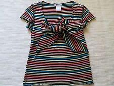 Sonia Rykel Oberteil Top Streifen Shirt mit Stasssteinen Baumwolle Gr.36 NP169€