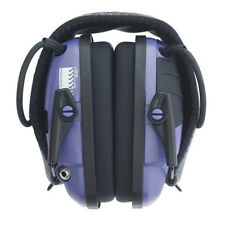 Purple Electronic Ear Muffs 22NRR AUX Jack Shooting Hearing Safety Protection