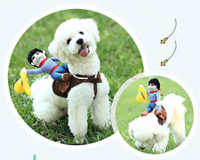 Riding Cowboy Funny Novelty Halloween Dog Costume For Small Dogs gag gift cute