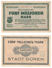German Grossnotgeld - Duren - 5 Million Mark - VF+.