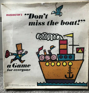 Dont Miss The Boat Vintage Waddingtons Board Game Circa 1966