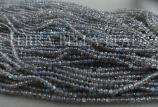 "13"" strand AAA LABRADORITE faceted gem stone round beads 3.5mm blue green flash"