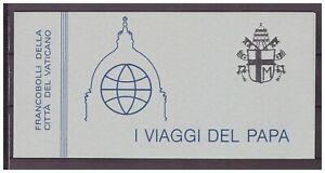 s15552) VATICANO MNH** 1985 Pope Trips Booklet libretto