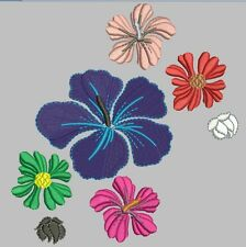 130 Flower Embroidery Digitized Stitches Designs Machines free embroiry program