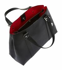 BNWT Harrods Daphne tote work bag - black with red lining & Harrods metal charm