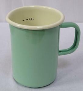 Enamel Measuring Jug With Skala, Measuring Cup, Pastel Mint, 16.9oz