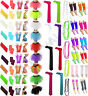 NEON TUTU ACCESSORIES 80's FANCY DRESS SKIRT NECKLACE HEAD BAND BRACES TIES