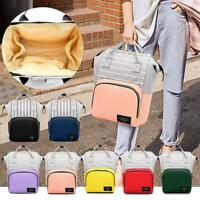Stripe Hit Color Mommy Backpacks Big Maternity Bags Baby Nursing Diaper Bag NI5L
