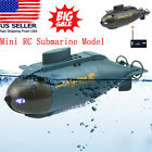 RC Mini Submarine Kids Toy-w/Remote Control 6 Channels Electric Diving Ship Boat