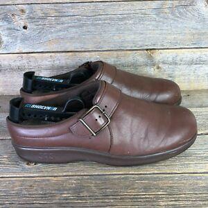 SAS Clogs Women's Shoes TriPad Comfort Mules Brown Leather Slip On Size 8