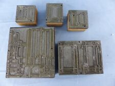 Ancien lot de 5 tampons matrices cachets imprimerie ?? architecte dimensions