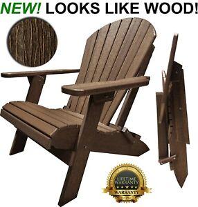 DuraWeather Poly King Size Folding Adirondack Chair