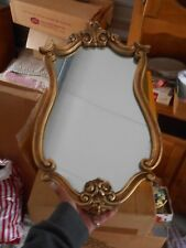 Vintage Mirror Golden With Roses