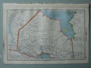 1952 Mapa ~ Dominion Of Canada Norte Ontario Trueno Bay Algoma Puerto Arthur