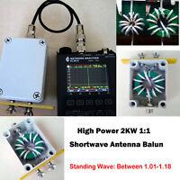 1:1 2KW Big Power Kurzwellenantenne Balun Wasserdicht 2-50MHz Frequenz Kurzwelle