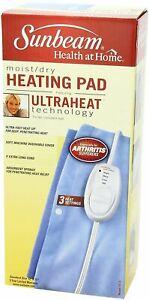 Sunbeam Moist/Dry Heating Pad, Light Blue, Standard Size - 1 Count